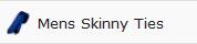 mens skinny ties