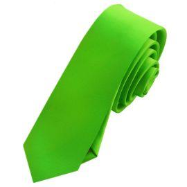 Mens Apple Green Skinny Tie