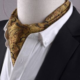 black and gold ascot