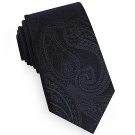 Black Paisley Embossed Mens Tie
