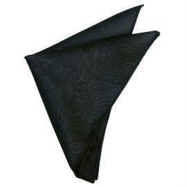 Black Paisley Pocket Square