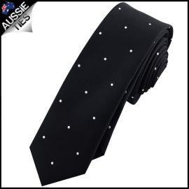 Black Pin Dot Mens Skinny Necktie