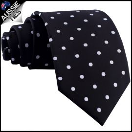 Black Polka Dot Mens Tie