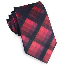 Black & Red Diamonds Tie