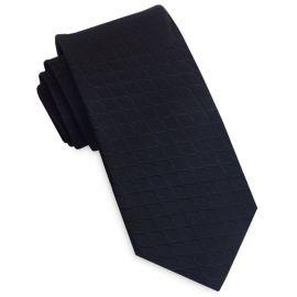 Black Reptile Skin Men's Slim Tie
