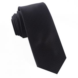 Black on Black Thin Stripes Mens Tie