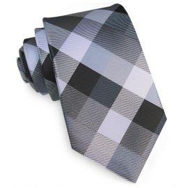 Black, Silver & Grey Diamonds Tie