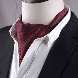 Black & Red Paisley Ascot Cravat