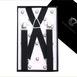 Boy's Black Braces Suspenders X2.5cm