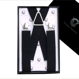 Men's Black X3.5cm Large Braces