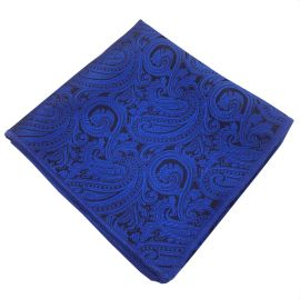 Blue & Black Paisley Pocket Square