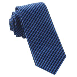 Blue & Black Thin Stripes Mens Tie