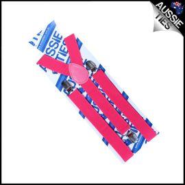 Boys Hot Pink Braces Suspenders