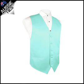 Boys Light Mint Green Tiffany Waistcoat Vest