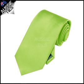 Boys Lime Green Plain Necktie