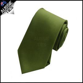Boys Olive Green Necktie