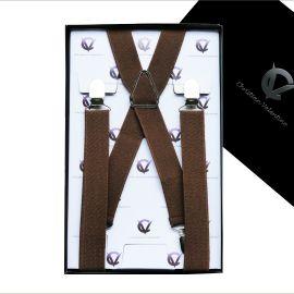 Boy's Mid Brown Braces Suspenders X2.5cm