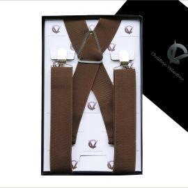 Men's Mid Brown Large Braces X3.5cm