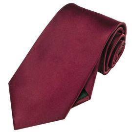 Mens Burgundy Red Tie