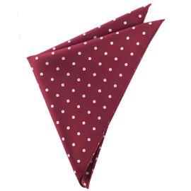 Burgundy Polka Dot Pocket Square Handkerchief