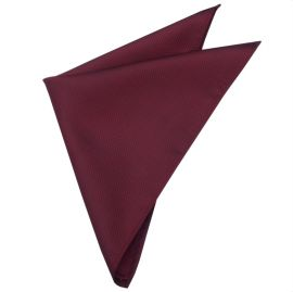 Burgundy Red Woven Texture Pocket Square