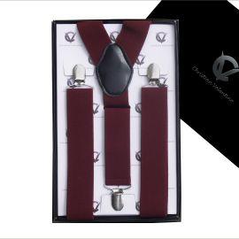 Men's Burgundy Large Braces Y3.5cm