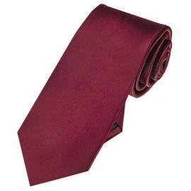 Mens Burgundy Red 7cm Slim Tie