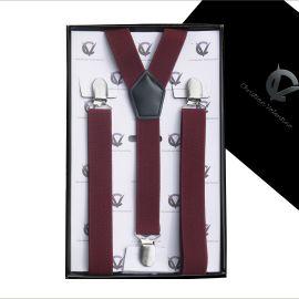 Men's Burgundy Large Braces Y2.5cm
