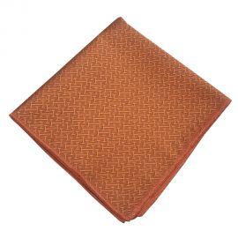 burnt orange textured pocket square