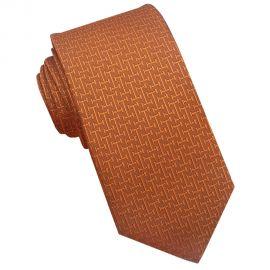burnt orange textured tie