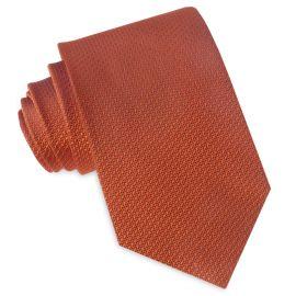 Burnt Orange Woven Texture Mens Tie