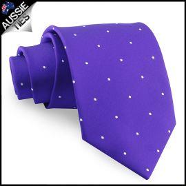 Cadbury Amethyst Pin Dot Mens Tie