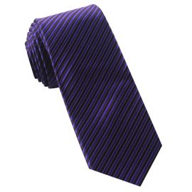 Cadbury Purple & Black Thin Stripes Mens Tie