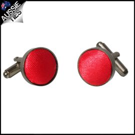Mens Cherry Red Cufflinks