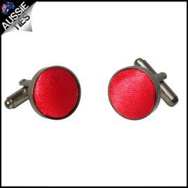 Mens Cherry Red Cufflinks