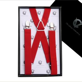 Boy's Red Braces Suspenders X2.5cm