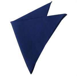 dark blue woven textured handkerchief