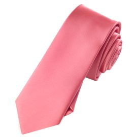 dark coral skinny tie