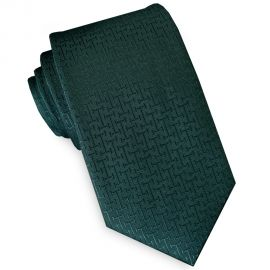 green textured slim tie