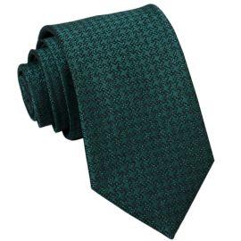 green with dark green pinwheel texture pattern slim tie
