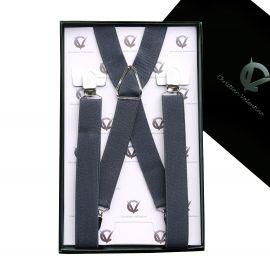 Men's Dark Grey X2.5cm Large Braces