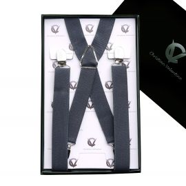 Boy's Dark Grey Braces Suspenders X2.5cm