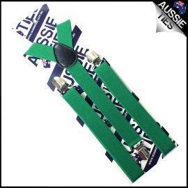 Emerald Green Braces Suspenders