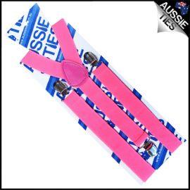 Fluorescent Pink Braces Suspenders