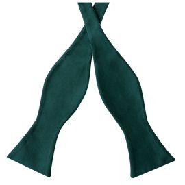 Forest Dark Green Self Tie Bow Tie