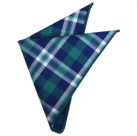 green, blue and white plaid design