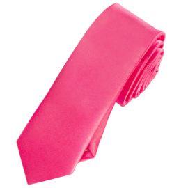 Mens Hot Pink Skinny Tie