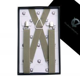 Men's Khaki X2.5cm Braces