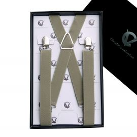 Men's Khaki X2.5cm Large Braces