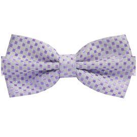 Lavender Purple 3D Check Bow Tie